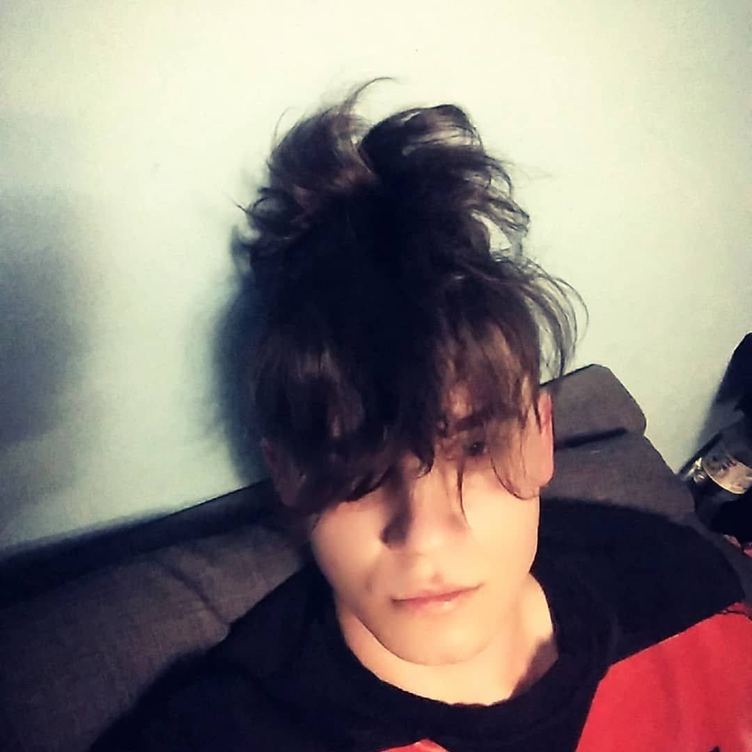 Boy polishboy emoboy hairstyle going wrong trend trendy hair