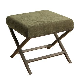 Shop for HomePop Upholstered Ottoman with Ivy Plush Velvet and Bronze Metal Finish. Get free shipping at Overstock.com - Your Online Furniture Outlet Store! Get 5% in rewards with Club O!