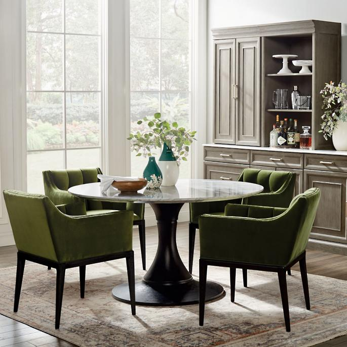 Mercer Round Dining Table Frontgate In 2021 Round Dining Room Table Round Dining Table Round Dining Room