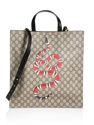 GUCCI Gg Snake Tote. #gucci #bags #shoulder bags #hand bags #canvas #tote #
