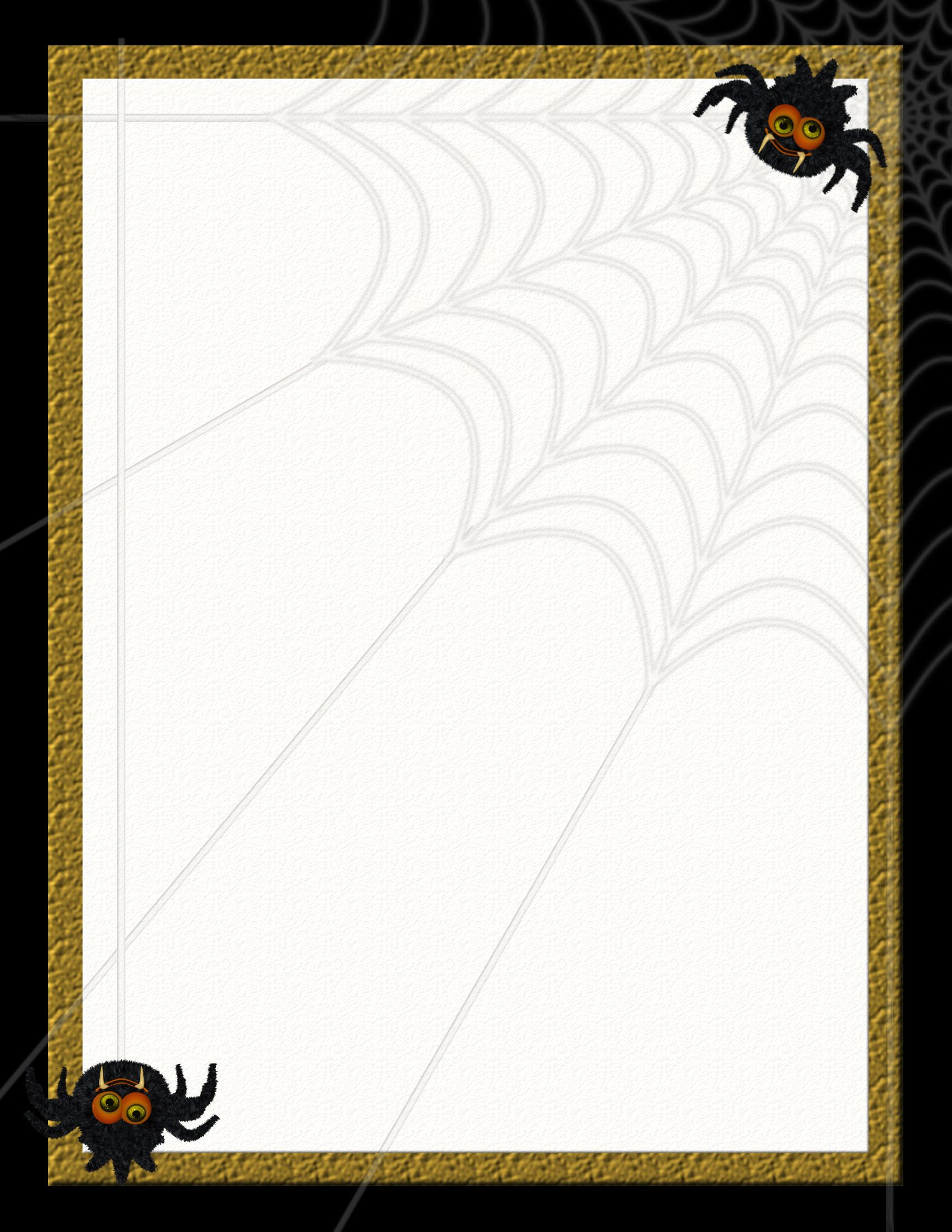 halloween stationery – Stationery Templates for Word Free