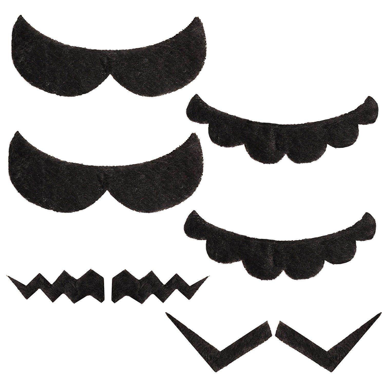 Super Mario Moustache Fancy Dress Up Beard Of Mario Luigi Waluigi Wario Set Of 6 Pcs For Kids Costu Fancy Dress Fancy Dress Accessories Fake Mustaches