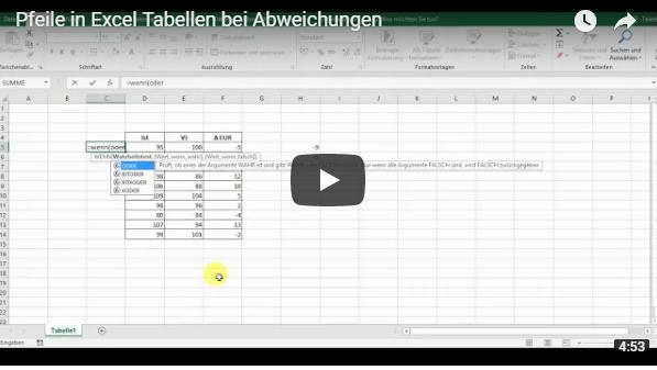 In Diesem Video Training Erfahren Sie Wie Sie In Excel Tabellen Pfeile Bei Abweichungen Einfugen Mit Bildern E Learning Training Lernen