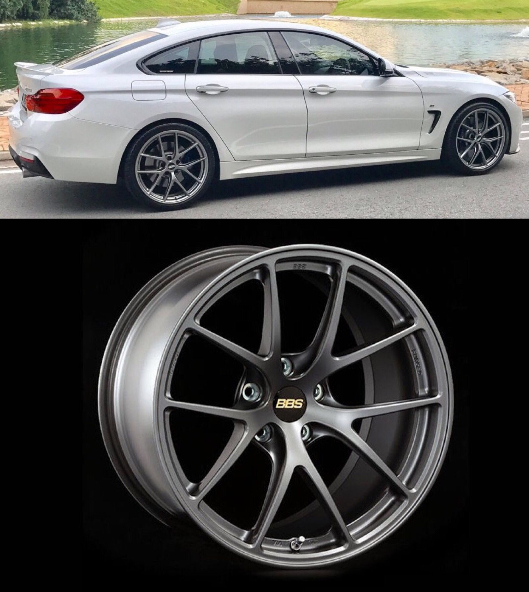 Bbs Ri A Fitted On F34 Bmw 435i Gran Coupe Bmw 4er Bmw 4er Gran Coupe 4er Gran Coupe