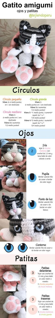 SUBTITULOS ESPANOL ENGLISH Cat in the Cup Crochet - Gato Taza ... | 1347x236