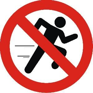 No correr Do not run | Normas de seguridad en el Taller ...