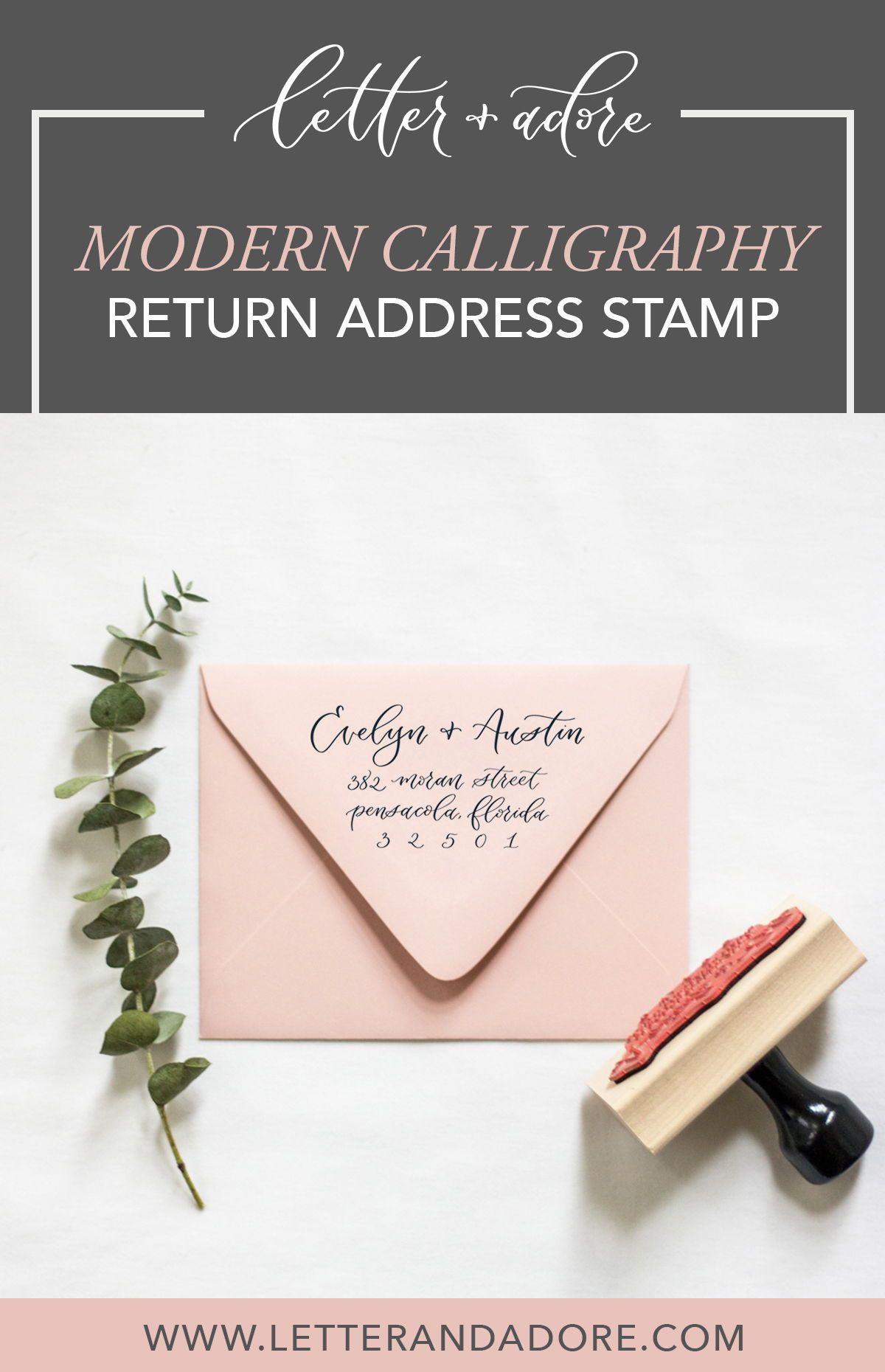 Modern Calligraphy Return Address Stamp Return address