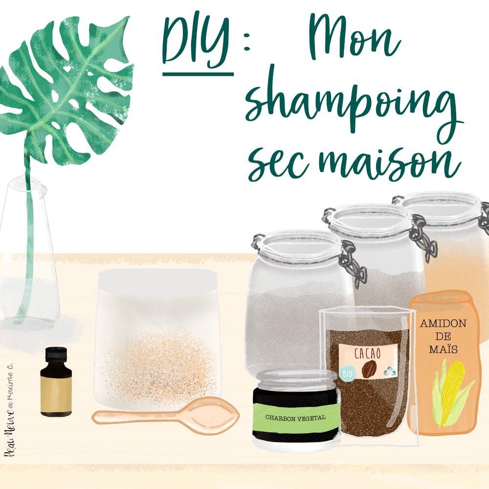 DIY : MON SHAMPOING SEC 100% NATUREL | Faire son shampoing, Shampoing maison