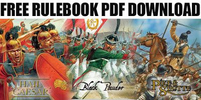 Free PDFs, Hail Caesar, Pike & Shotte and Black Powder Rules from