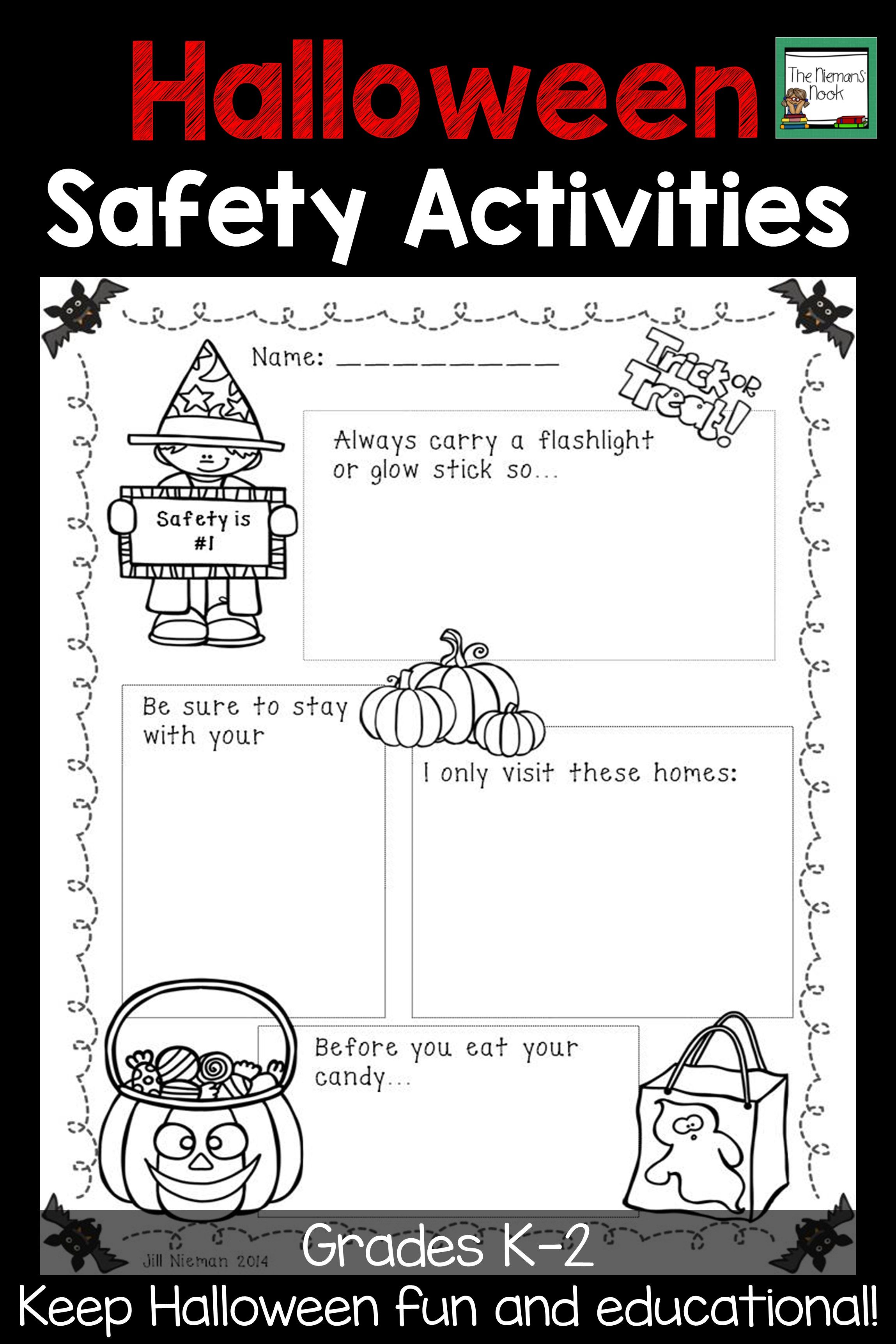 Your Students Will Love Learning About Halloween Safety With This Poster And Mini Book Halloween Activities Halloween Literacy Fun Activities For Preschoolers