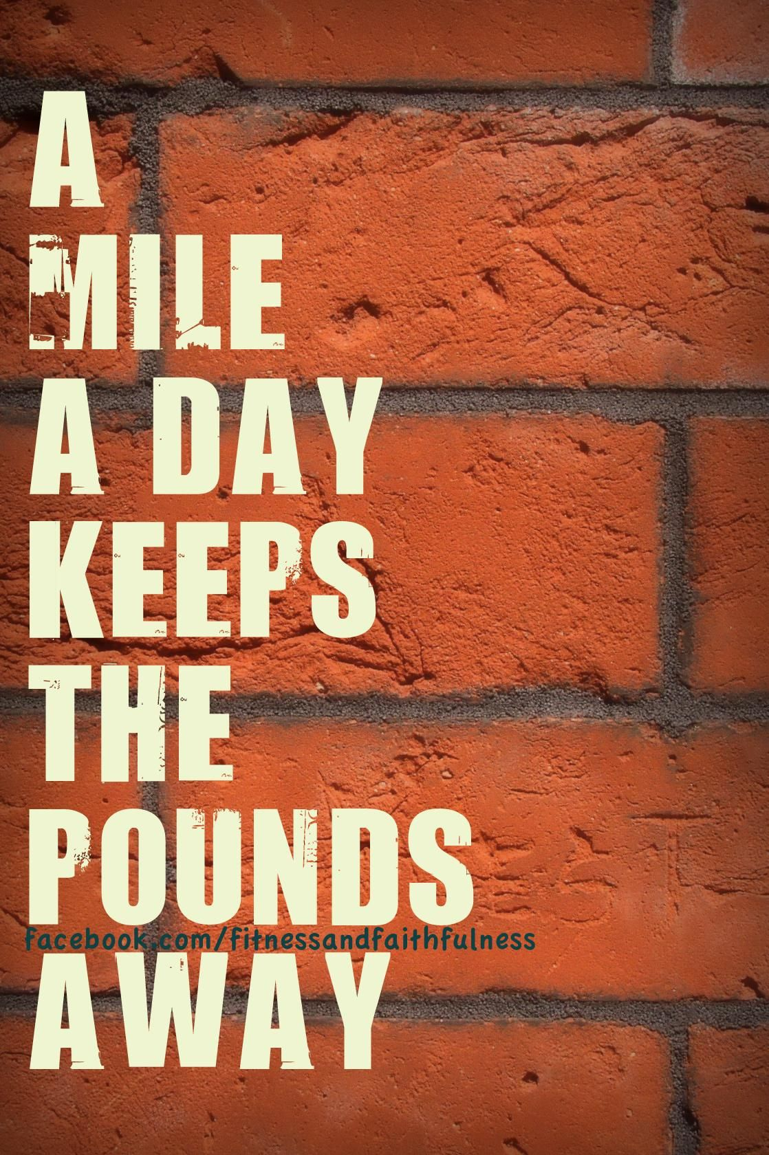 A mile a day keeps the pounds away, so more than 2 miles today must be good! :)