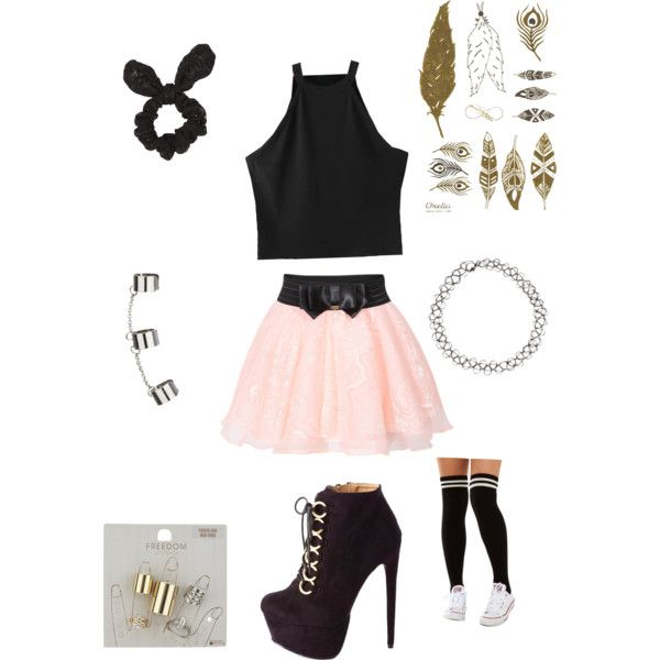 Loving The Skirt by bkhaugh on Polyvore featuring polyvore, fashion, style, Akira, Charlotte Russe and Topshop