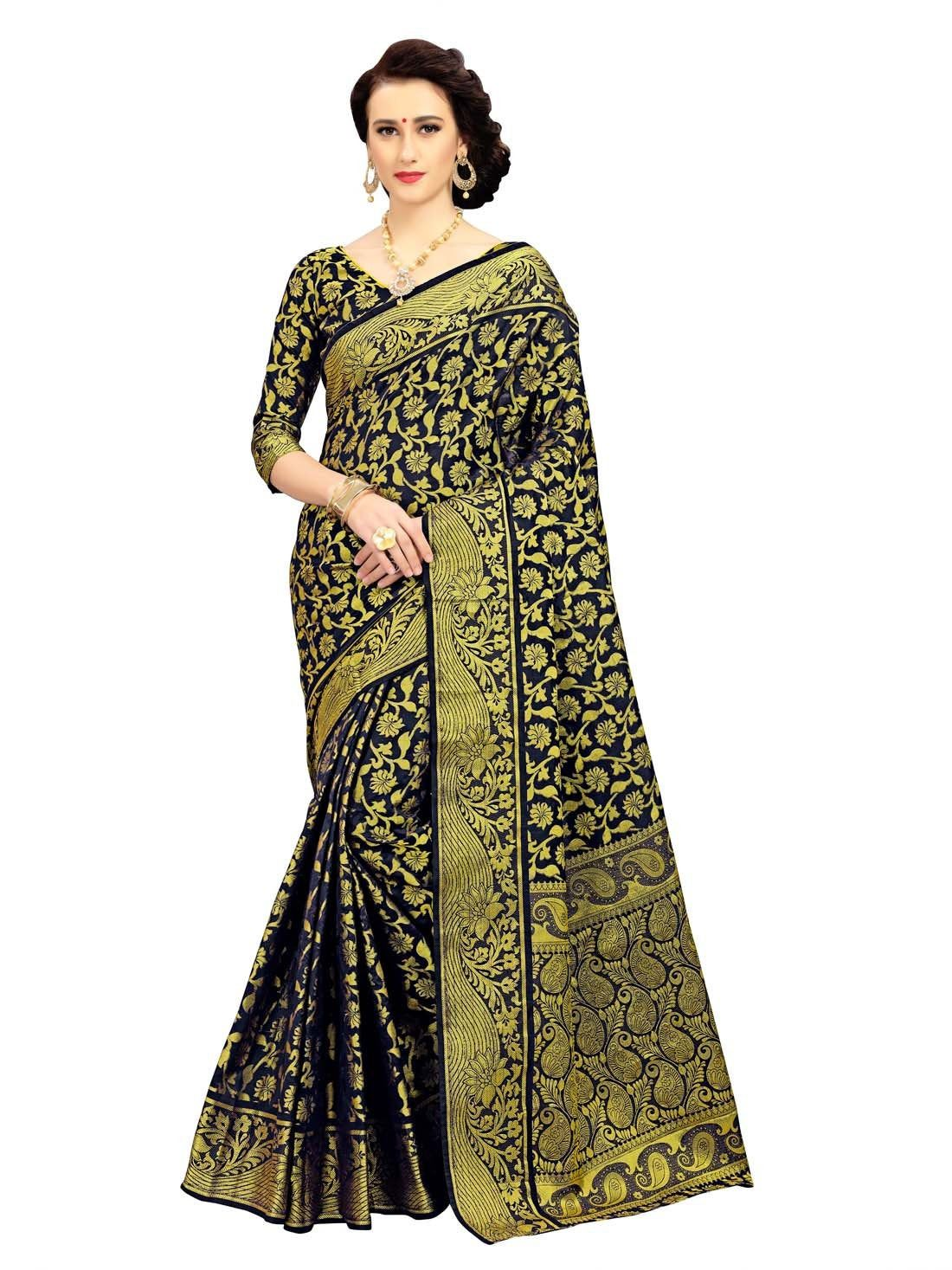 Photo of Banarasi Art Silk Saree With Heavy Zari Work Pallu & Heavy Rich Work Blouse For Modern Women /saree/blouse/bridal saree/wedding saree/sari