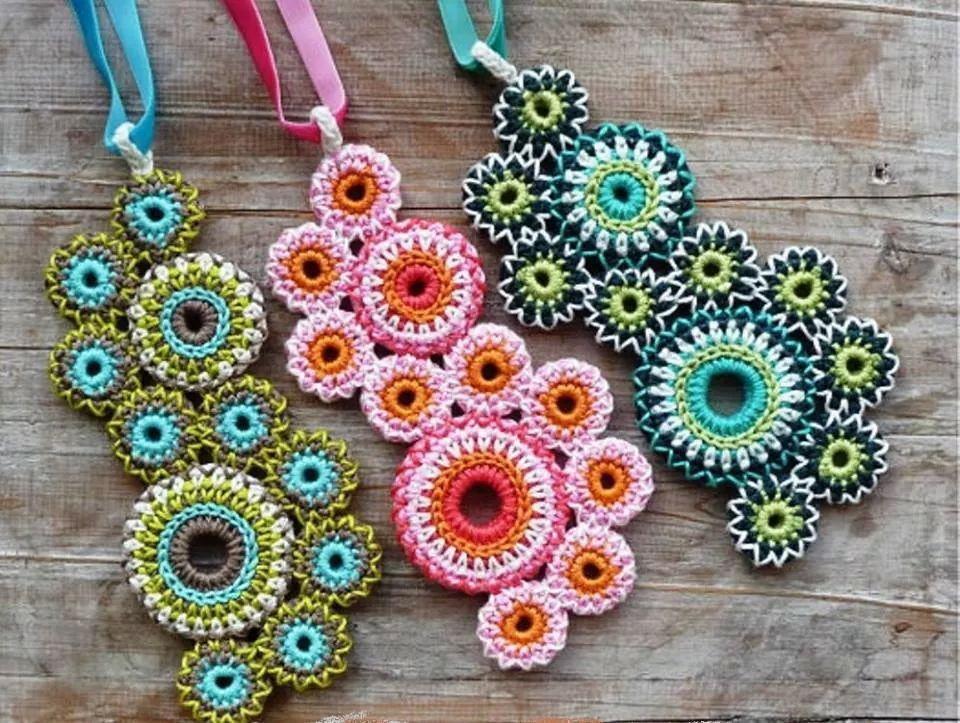 Dijes !¡ | crochet entretenido | Pinterest | Dijes, Collares y ...