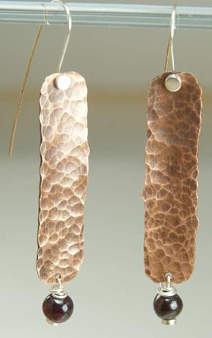 Shoply.com -Hammered Earrings - Mixed Metal, Sterling and Copper. Only $24.99