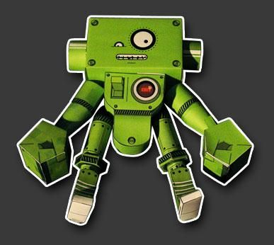 Botteck Robot Paper Toy - by The Paper Jam -- Here is more one nice Robot Paper Toy, because robots are never too many! This came from German, by The Paper Jam website.