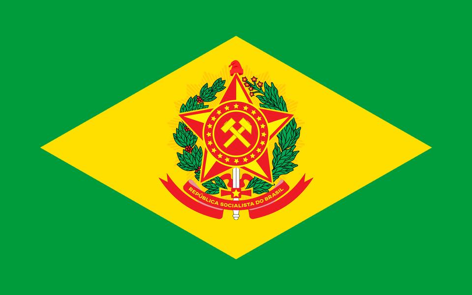 Socialist Republic Of Brazil Flag Leftistvexillology In 2021 Brazil Flag Flag Art Flag
