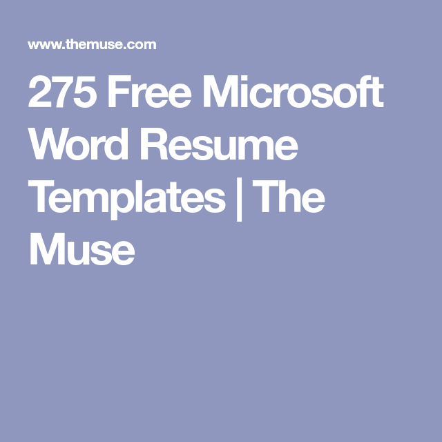 The 41 Best Resume Templates Ever Resume Templates Microsoft Word Resume Template Best Resume Template