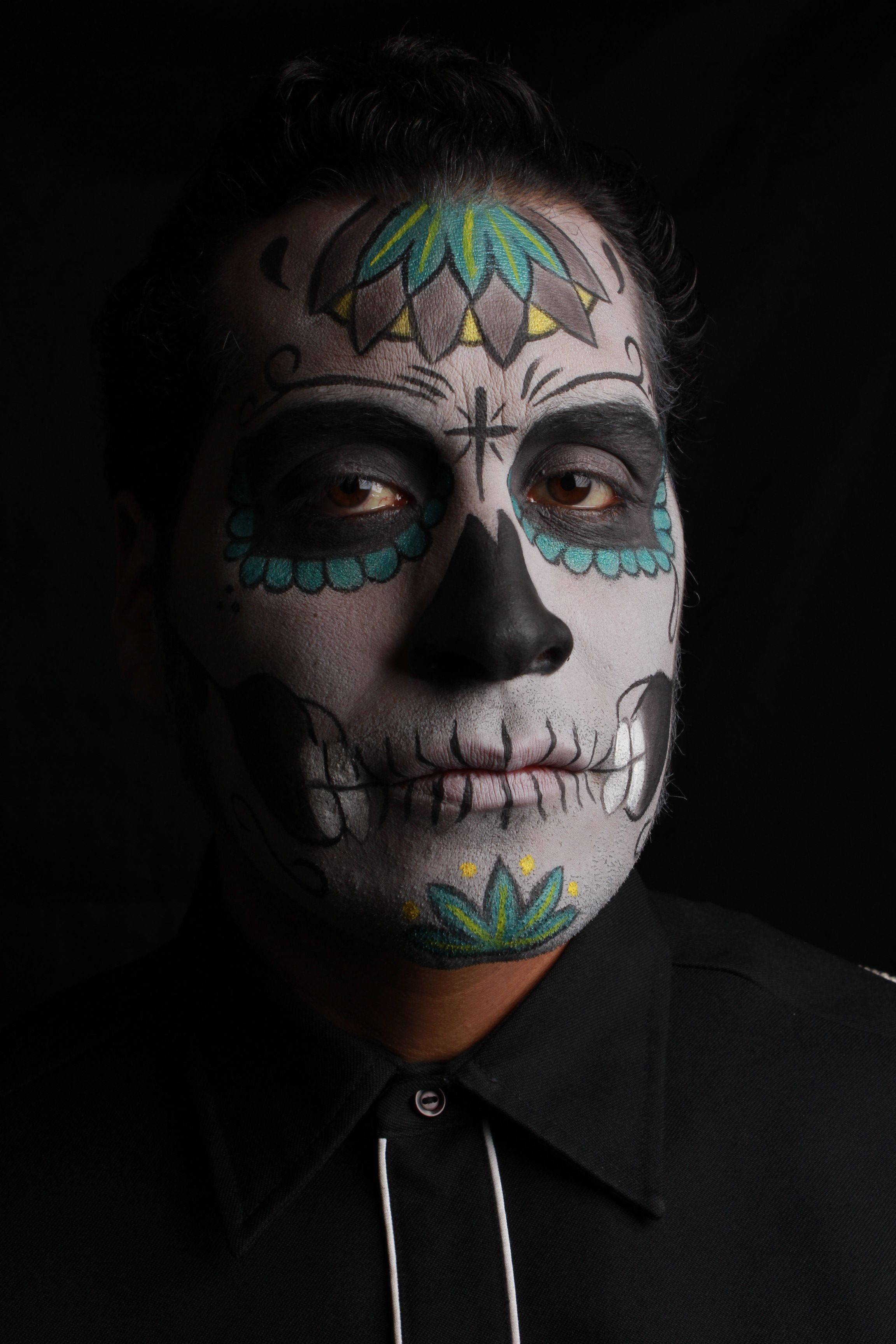 Dia de Los Muertos, make up by Elvia Olivarria Torres