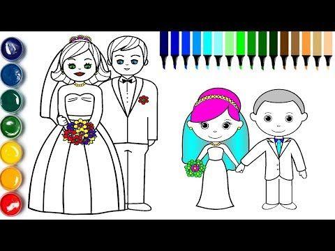 Poco De La Novia Y El Novio Pagina Para Colorear Como Dibujar El Novio De La Novia Youtube Coloring Pages Drawings Drawing For Kids