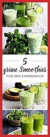 Grüne Smoothies: hol dir den Energiekick ins Glas #den #dir #Energiekick #Fitness food gain #Fitness...