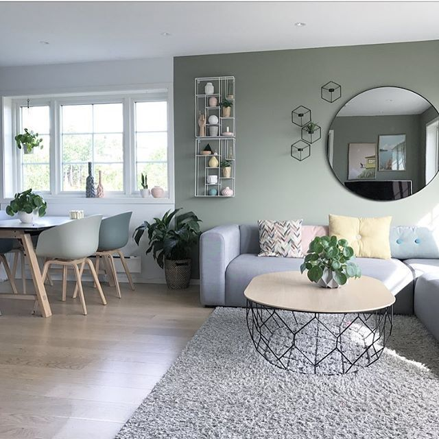 Photo of Grey modern interior living room