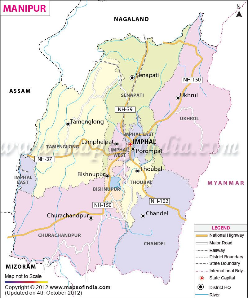 Manipur Map State Maps in 2019 India map, Union