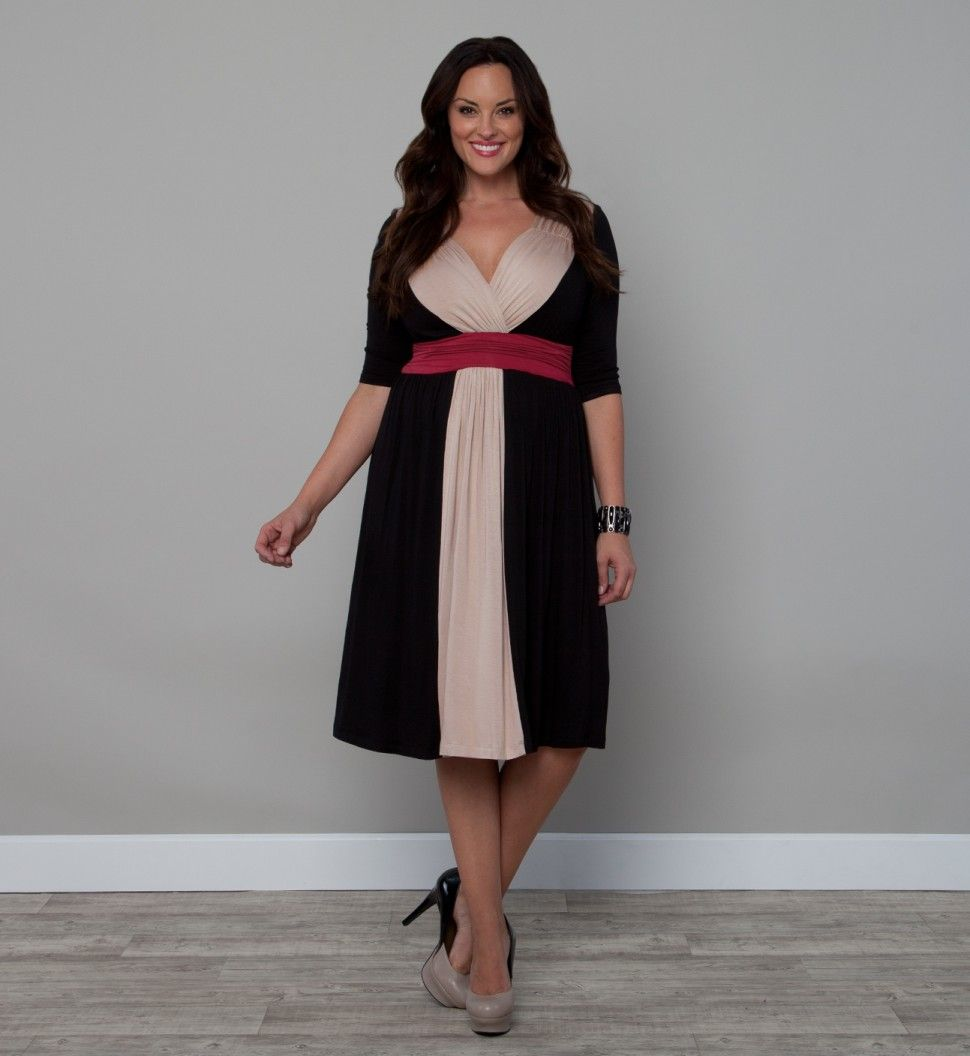 Kiyonna Clothing Bristol Colorblock Dress Curvaceous Ladies Have
