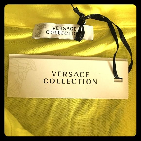 NWT! Versace Collection Polo The softest 100% cotton polo ever! Perfect do summer! Versace Tops Button Down Shirts