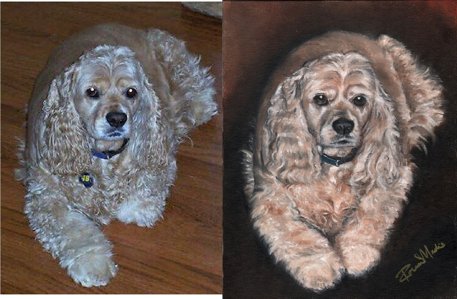 My Oil Painting Of A Golden Cocker Spaniel Puppy Dog Golden