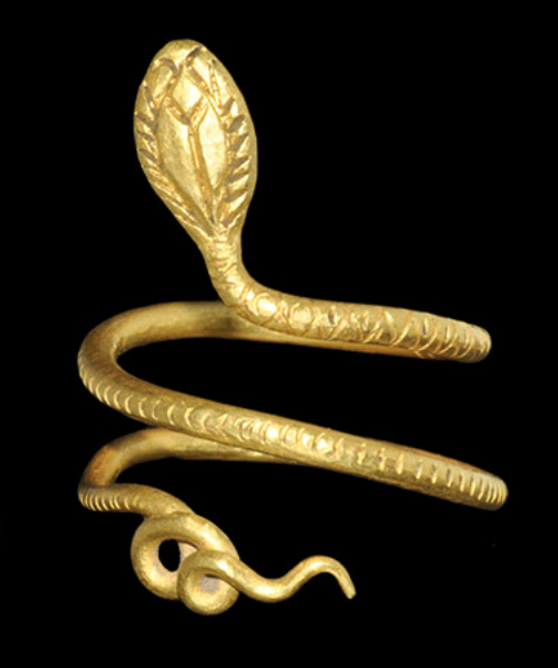 Egyptian Gold Cobra Ring, Ptolemaic, c. 332-30 BC