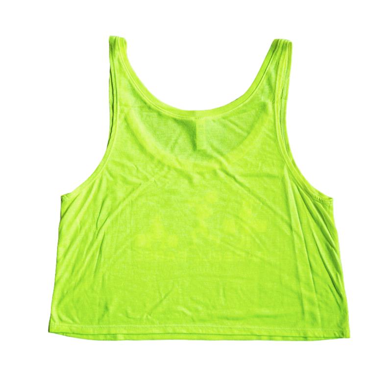 Crop It Like It's Hot Tank - Neon Yellow