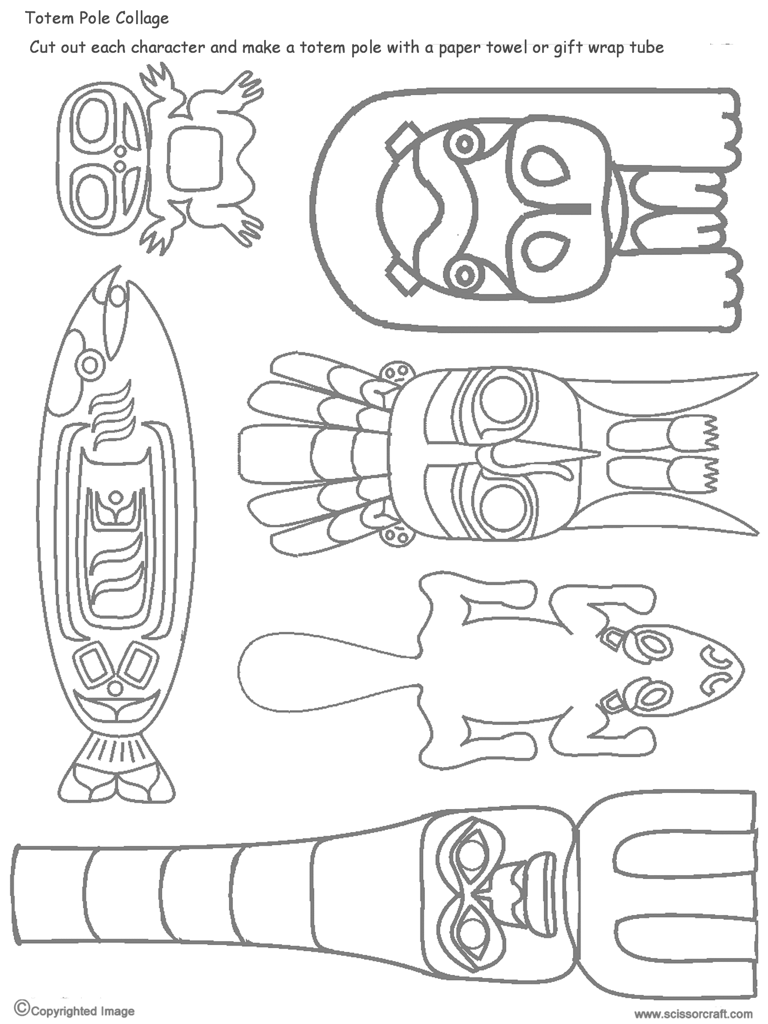 how to draw a totem pole eagle
