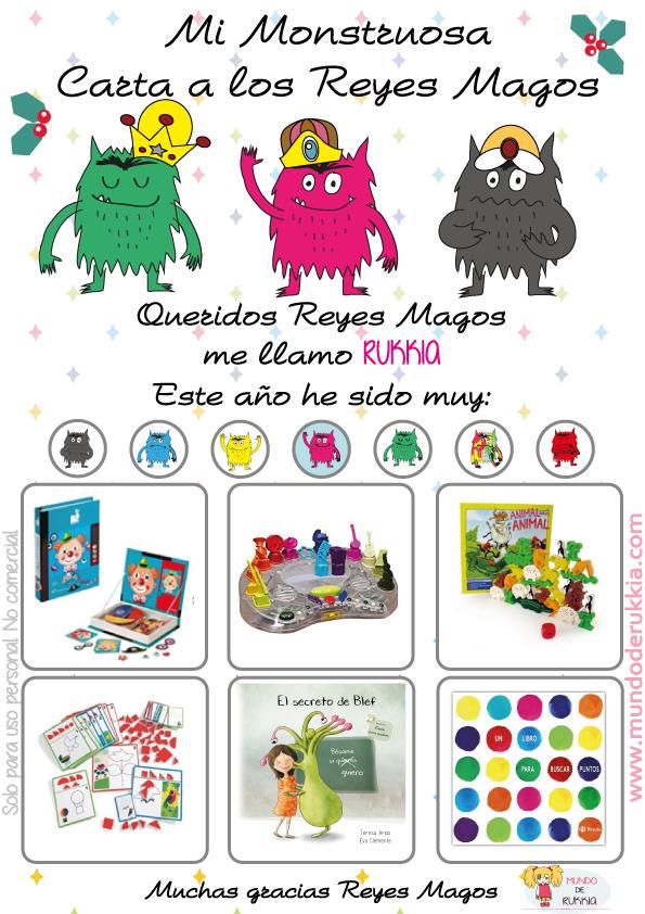 Carta Reyes Magos del Monstruo de Colores   Blog Mundo de Rukkia ...