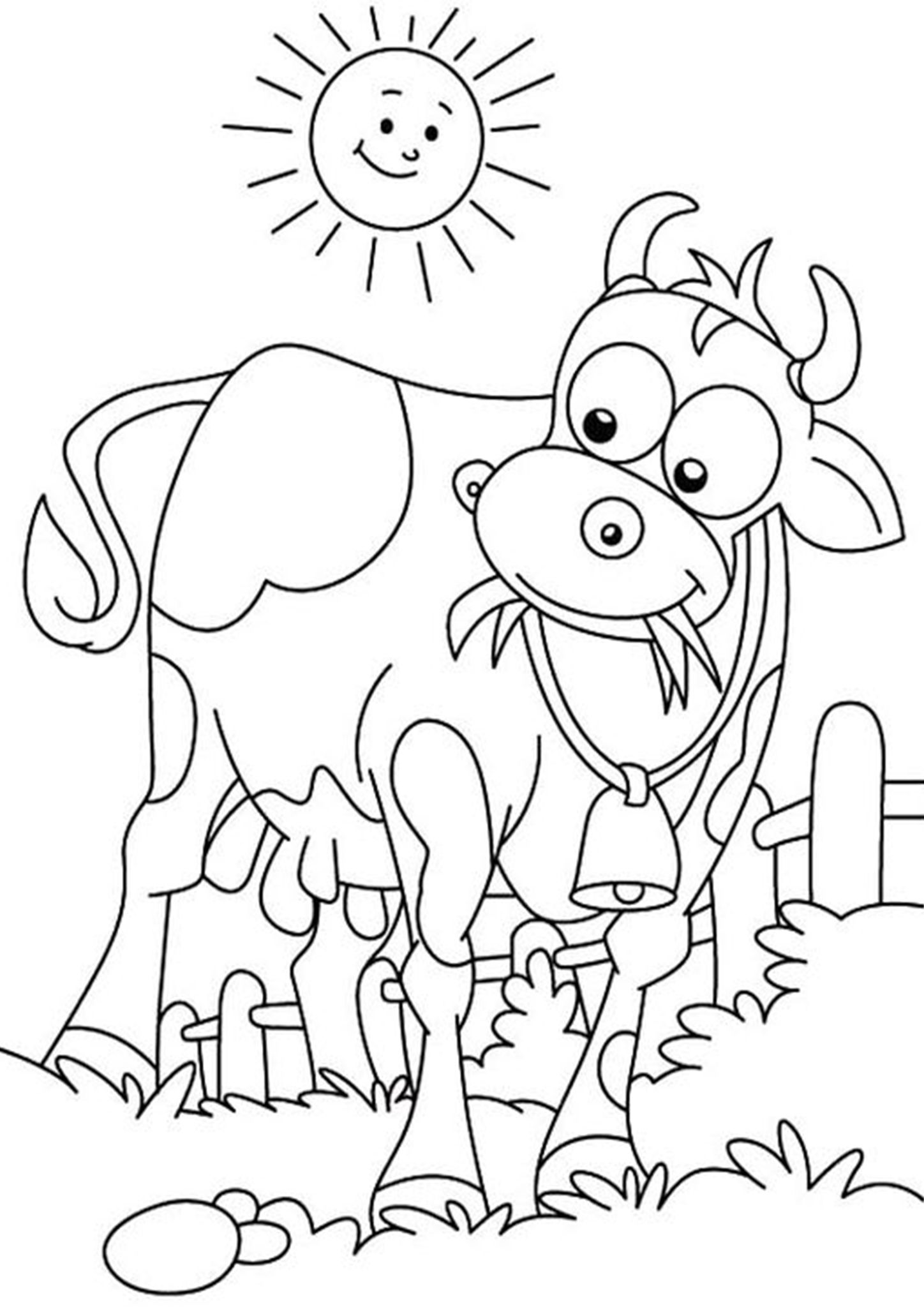 Free Easy To Print Cow Coloring Pages Cow Coloring Pages Dinosaur Coloring Pages Farm Coloring Pages