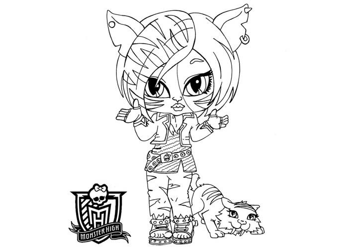 Baby Monster High Coloring Pages Baby Torelai Stripe