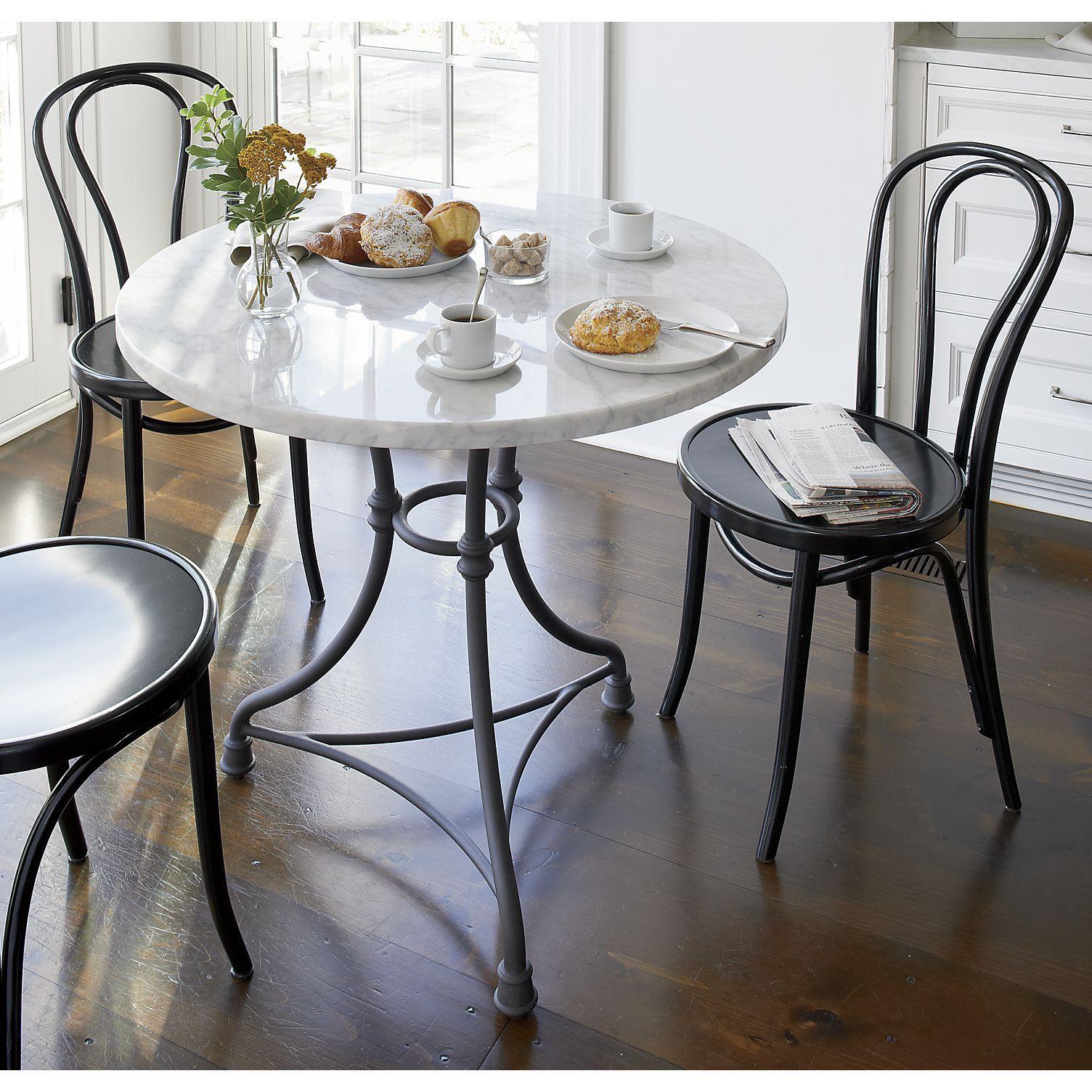 French kitchen table  French Kitchen Round Bistro Table  French kitchens Carrara marble