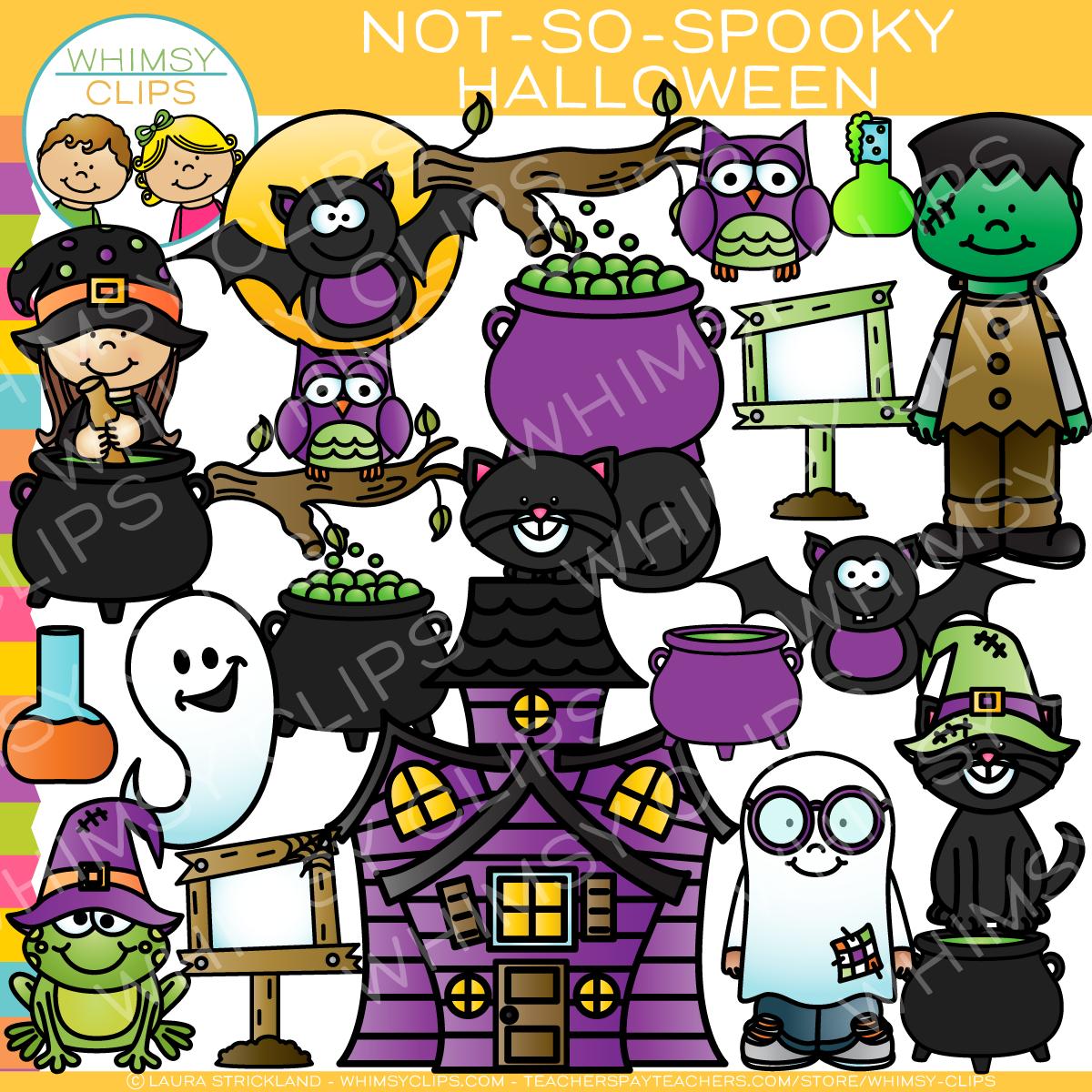 Not So Spooky Halloween Clip Art