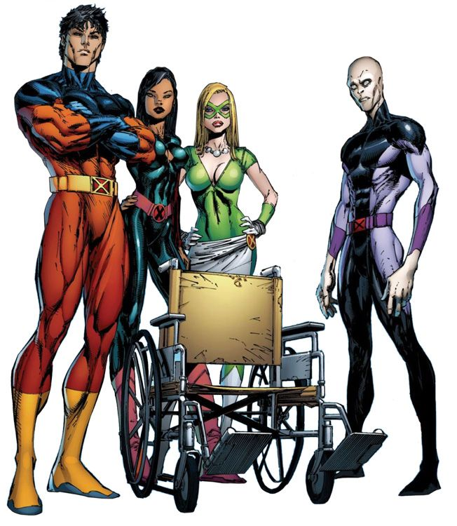 The first 'new' X-Men; Vulcan, Petra, Sway, and Darwin