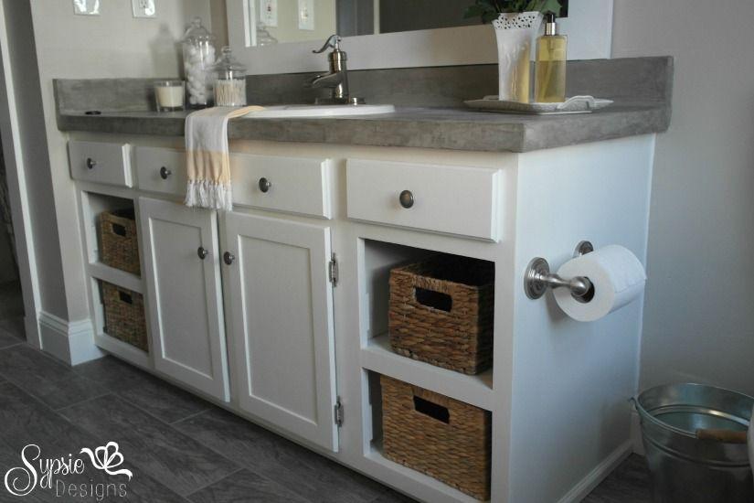 Builder Grade Bathroom Makeover Idea