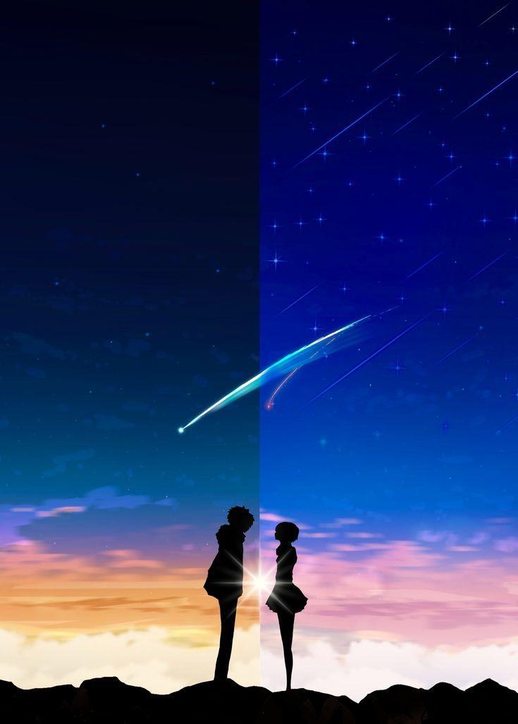 Pin By Andilo Barham On Anime Your Name Anime Kimi No Na Wa Anime Galaxy Gif wallpaper anime android