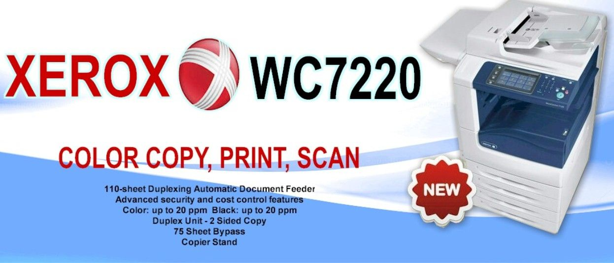 Copy Color Print And Scan Do Whatever You Want With This Smart Xerox Wc 7220 Device Pay Only 4 899 00 Or Ta Printer Color Printer Color