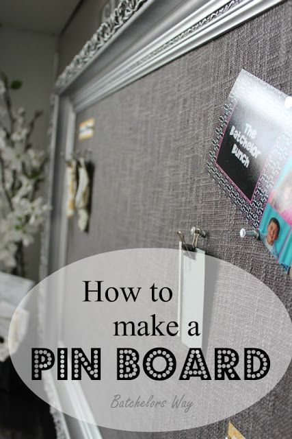 Pin Board - Great way to utilize one of those old picture frames.