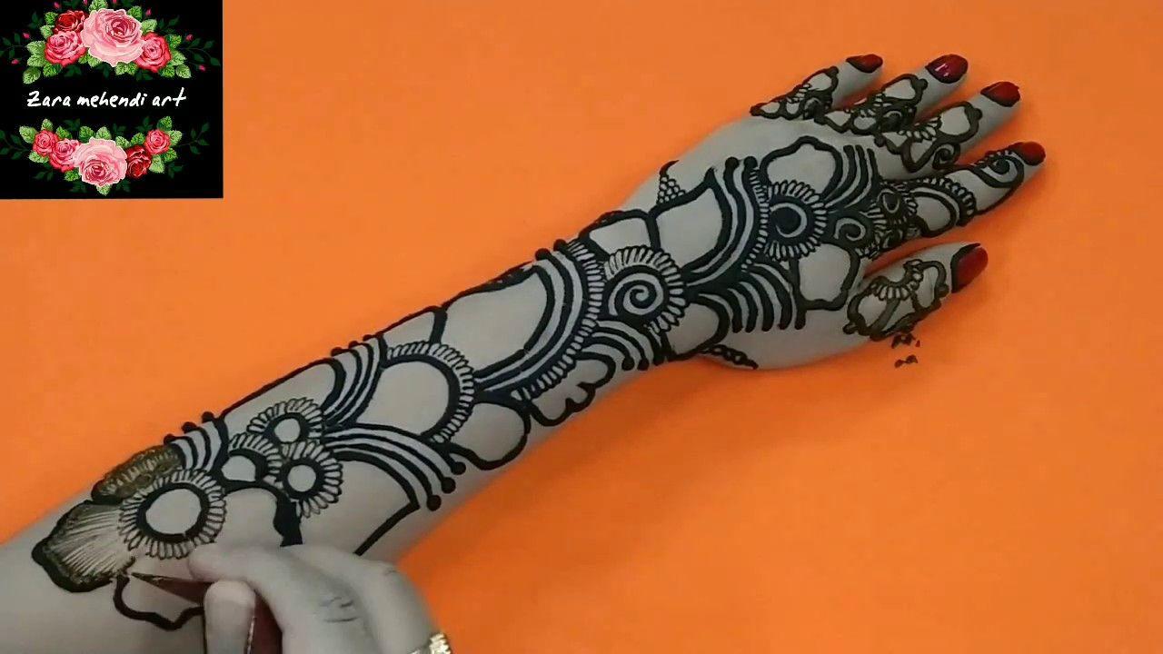Beautiful Shaded | Arabic Henna Design | For Full Hand #31 Zara Mehendi Art