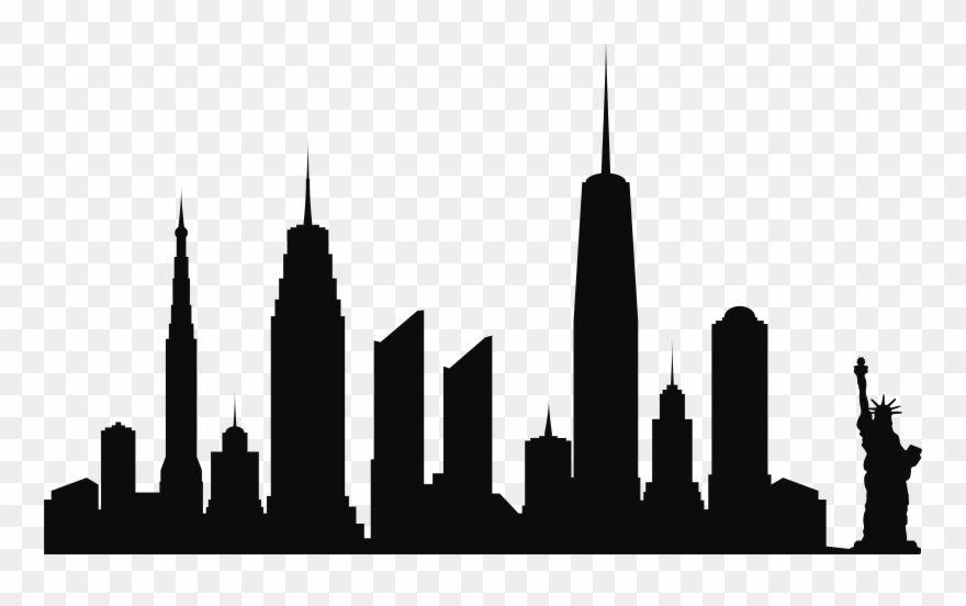 Skyline De La Ciudad De Nueva York Silueta Png Clip Artu200b Estatua De La Libertad Png Transparent City Skyline Silhouette Skyline Silhouette Silhouette Png