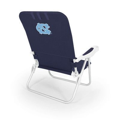 Picnic Time NCAA Monaco Beach Chair NCAA Team: North Carolina, Color: Navy