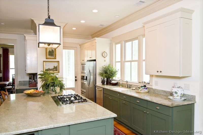 Pictures Of Kitchens Traditional Two Tone Kitchen Cabinets Page