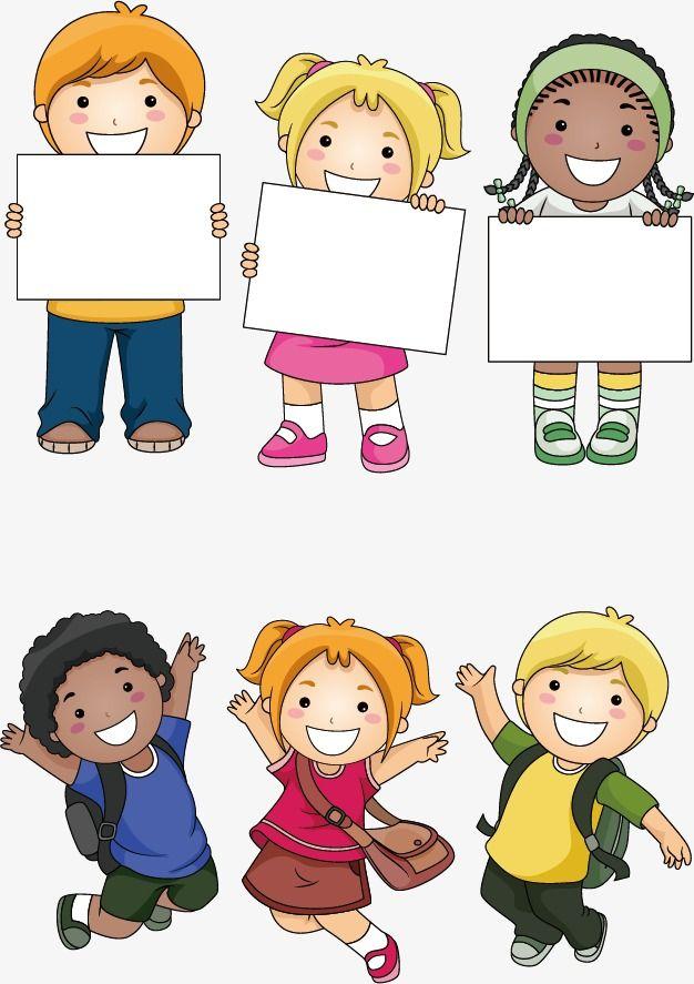 Cartoon,color,Hand Painted,Cartoon Children,Pupils,Placards,Happy - cartoon children play
