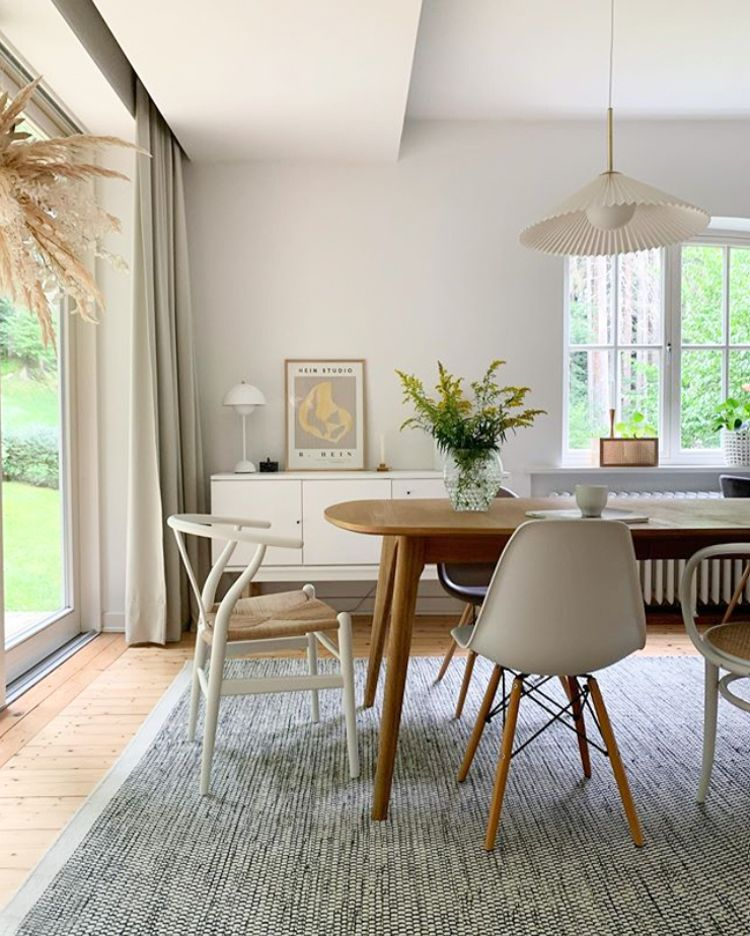 Scandinavian Inspired Dining Room In Calming Tones In 2020 Home Living Dining Room My Scandinavian Home