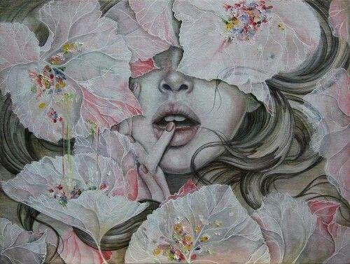 Cigarett and flowers